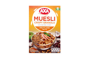 Мюсли медовые с фруктами и орехами Axa к/у 375г