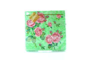 Серветки Luxy паперові Букет троянд салатова 33*33см 20шт