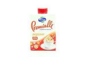 Сливки 15% MilkLife Premialle 200г т/п