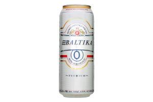 Пиво №0 Безалкогольное Балтика ж/б 0.5л