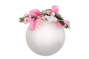 Прикраса новорічна Куля пластикова Mislt 1шт