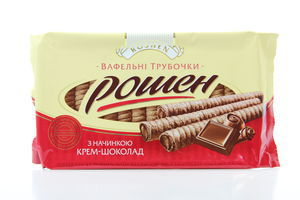 Трубочки вафельные крем-шоколад Roshen м/у 222г