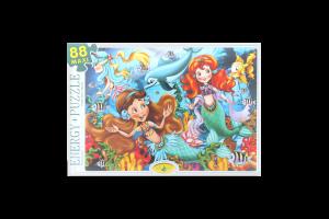 Пазли для дітей від 3-х років Русалонька Київська Фабрика Іграшок 88ел
