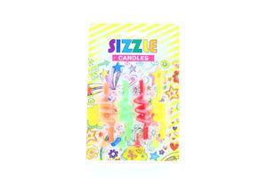 Свічки Sizzle Candles спіральні 4шт