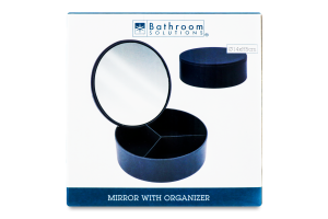 Зеркало с органайзером косметическим 2в1 в ассорт