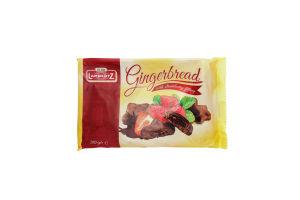 Пряники Lambertz с клубничной начинкой в шоколаде