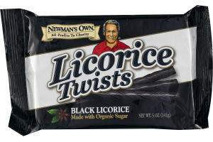 Newman's Own Organics Licorice Twists Black Licorice