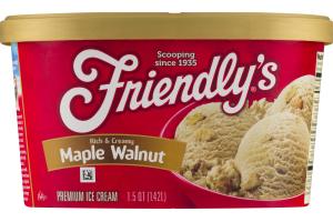 Friendly's Premium Ice Cream Rich & Creamy Maple Walnut