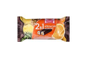 Сырки глазированные 15% 2в1 Апельсин-ананас Злагода м/у 2х30г
