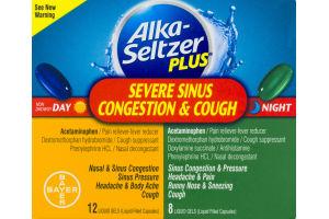 Alka-Seltzer Plus Severe Sinus Congestion & Cough Day/Night Liquid Gels
