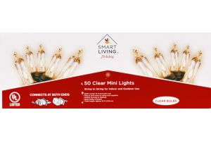 Ahold Smart Living Holiday Clear Mini Lights - 50 CT