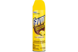 Favor Brilliant Shine Furniture Polish, Fresh Lemon Scent