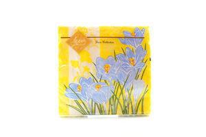 Серветки Luxy паперові Весняні крокуси жовта 33*33см 20шт