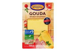 Сыр 40% ломтики нарезанные Gouda Wloszczowa лоток 150г