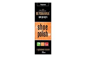 Крем для обуви с апликатором черный Blyskavka 75мл