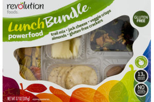 Revolution Foods Lunch Bundle Powerfood Trail Mix, Jack Cheese, Veggie Chips, Almonds and Gluten Free Crackers