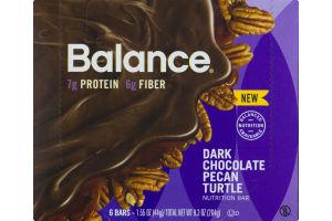 Balance Dark Chocolate Pecan Turtle Nutrition Bar- 6 CT