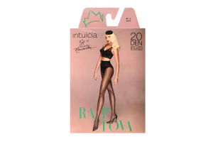 Колготки Intuicia Raptova 20den 4-L чорні