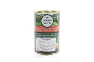 Оливки с лососем консервированные пастеризированные Feudo Verde 300г
