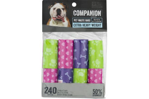 Companion Pet Waste Bags Extra Heavy Weight - 240 CT