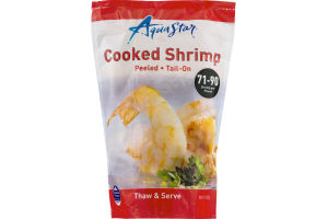 Aqua Star Cooked Shrimp Peeled and Tail-On 71-90 Per Pound