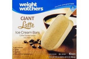 Weight Watchers Giant Latte Ice Cream Bars - 6 CT