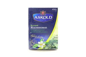 Чай зеленый байховый листовой Жасминовый Classic Collection Askold к/у 100г