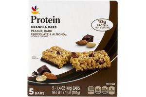 Ahold Protein Granola Bars Peanut, Dark Chocolate & Almond - 5 CT