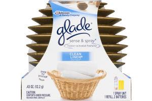 Glade Sense & Spray Motion-Activated Freshener Clean Linen