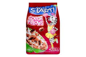 Завтраки сухие с какао-начинкой Подушечки Start! м/у 500г