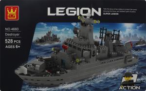 Конструктор Морской Истребитель 528дет D`1