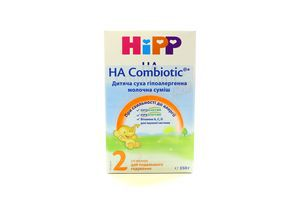 Суміш Hipp Combiotic суха молочна гіпоалерген. 2 350г