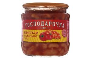 Фасоль в томатном соусе Господарочка с/б 450г