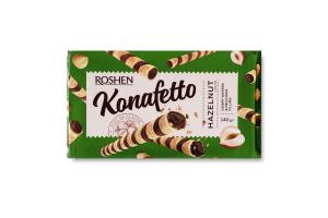 Трубочки вафельні Hazelnut Konafetto Roshen м/у 140г