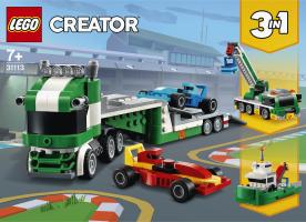 Конструктор для дітей від 7років №31113 Транспортер гоночних автомобілів Creator Lego 1шт