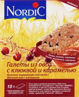 Галети з вівса з журавлиною і карамеллю Nordic к/у 10х30г