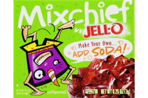 JELL-O Mixchief Add Soda Unflavored Gelatin