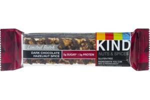 KIND Bar Limited Batch Dark Chocolate Hazelnut Spice