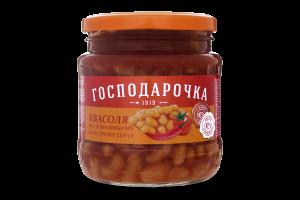 Фасоль по-домашнему в остром соусе Господарочка с/б 460г