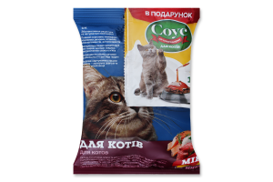 Набор Корм сухой для котов Микс 100г+Соус для сухого корма 15мл Для Друга 1шт