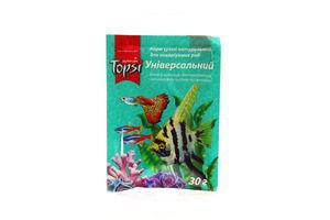 Корм сухой натуральный для аквариумных рыб универсальный Topsi 5г