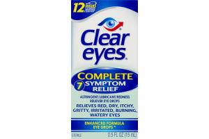 Clear Eyes Complete Symptom Relief Enhanced Formula Eye Drops