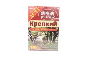 Чай Цейлонський чорний крепкий байховий лист 500гр Три слона