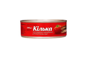 Килька черноморская в томатном соусе