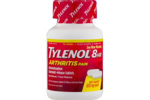 Tylenol 8 HR Arthritis Pain Acetaminophen Extended-Release Tablets - 100 CT