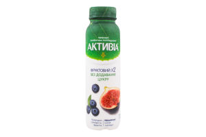 Бифидойогурт 1.2% питьевой без сахара Черника-Инжир Активіа п/бут 270г