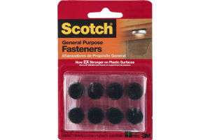 Scotch Fasteners General Purpose Black - 16 CT