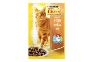 Корм для взрослых котов с курицей в соусе Friskies м/у 100г