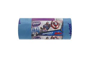 Пакети для сміття з ручками 35л Avengers Vortex 20шт