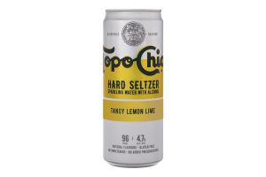 Напиток слабоалкогольный 330мл 4.7% газированный Tangy Lemon Lime Hard Seltzer Topo Chico ж/б